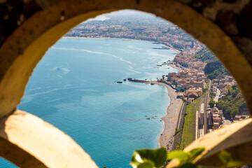 The Sicilian coast from Taormina - Italy