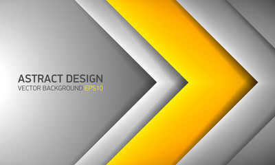 Abstract volume background, yellow inside, cover for project presentation, vector design