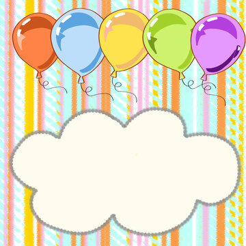 Balloons and  writing