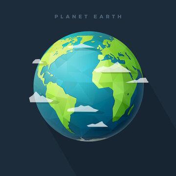 polygon west earth hemisphere on dark