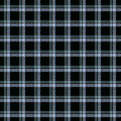 Seamless geometric pattern.Blue checks on a black  background.