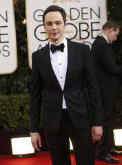 """Actor Jim Parsons  from the sitcom """"The Big Bang Theory"""" arrives at the 71st annual Golden Globe Awards in Beverly Hills"""