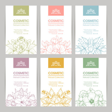 Vector set of templates packaging cosmetic