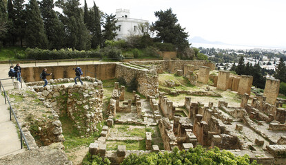 Tourists visit archaeological site of Carthage
