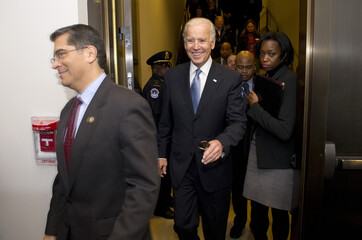 "U.S. Vice President Joseph Biden arrives to meet with House Democrats about a solution for the ""fiscal cliff"" on Capitol Hill"