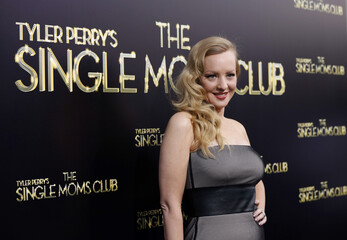 """Cast member McLendon-Covey poses at the premiere of """"The Single Moms Club"""" in Los Angeles"""