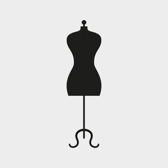 Mannequin icon on white background.