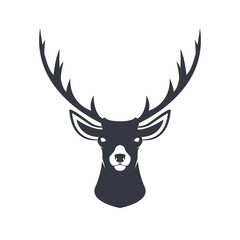 Stylized reindeer head. Vector illustration.
