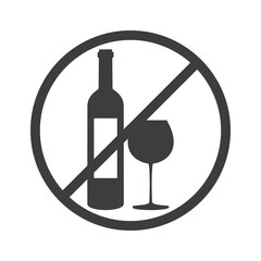 No alcohol sign on white background.