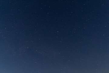 Stars on clear night sky