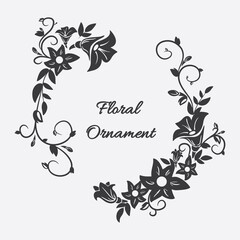 Vector card with flower ornament