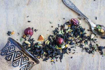 Organic floral tea concept