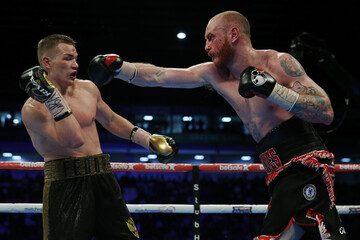 George Groves (R) in action with Fedor Chudinov