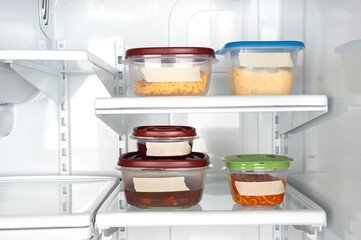 Leftovers in plastic containers