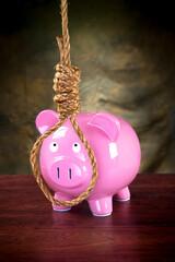 Piggybank and noose