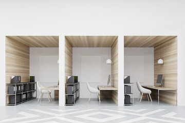 Office cubicles with pictures