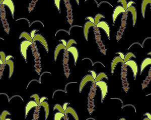 Palms pattern. Simple illustration of palms vector pattern for web