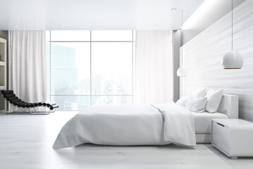 White bedroom, side