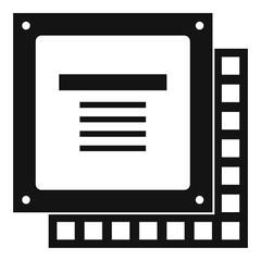 Computer CPU processor chip icon simple
