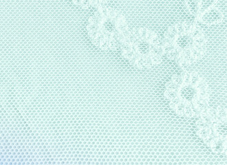 Fragment Of A Pastel Floral Lace Background