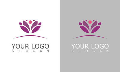flower lotus beauty logo