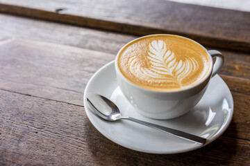 coffee / Cup of coffee with beautiful Latte art, selective focus