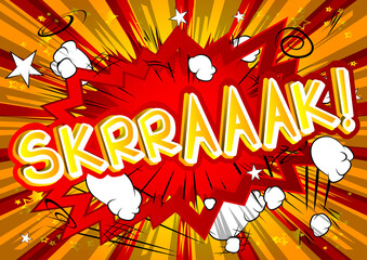 Skrraaak! - Vector illustrated comic book style expression.