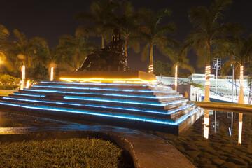 Water fountain, La Choca Park,Villahermosa,Tabasco,Mexico