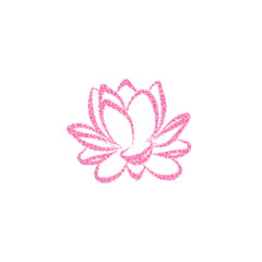 Lotus flower vector illustration