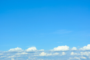 Canvas Prints Clouds in the blue sky and copy space