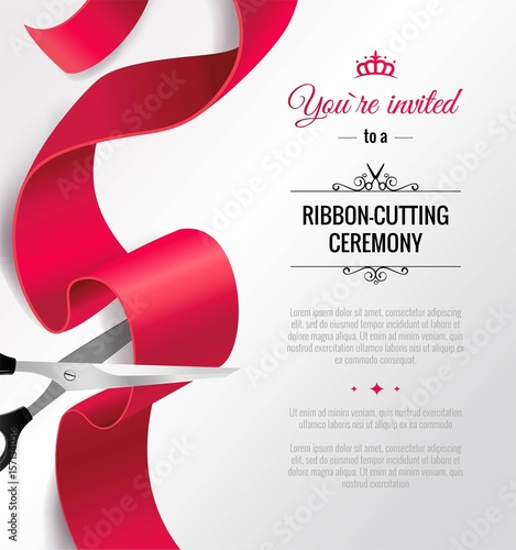 You are invited invitation card with curving ribbon and copy space you are invited invitation card with curving ribbon and copy space grand opening concept stopboris Gallery