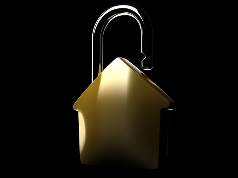 House padlock concept isolated