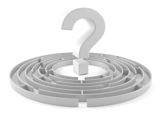 Maze with question mark