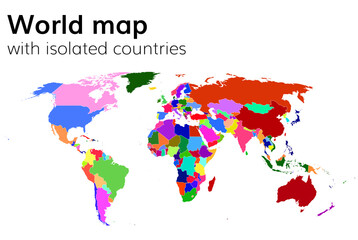 world map with isolated countries
