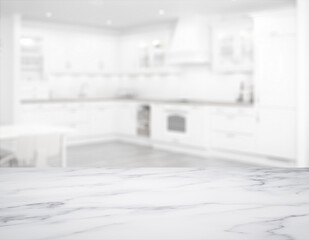 kitchen with marble table top