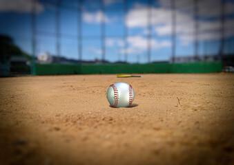 野球 野球場 ピッチャーマウンド