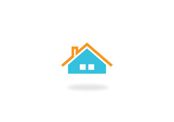 house roof icon logo