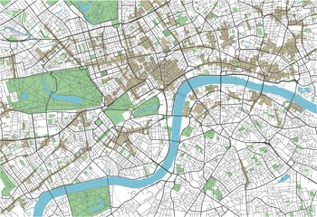 Colorful London vector city map
