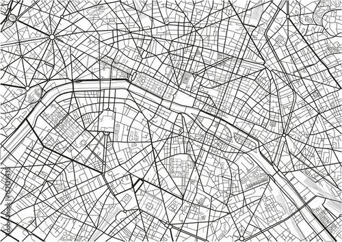 Black and white vector city map of Paris with well organized ... on hand drawn city map, design city map, city center map, dragon city map, graphic city map, imperial city map, new york city road map, photoshop tutorial city map, art city map, hudson city map, tech city map, custom city map, mega city map, eagle city map,