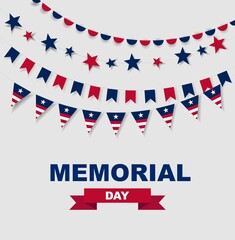 Memorial Day. Stock illustration for greeting card, ad, promotion, poster, flyer, blog, article, marketing, retail shop, brochure, signage
