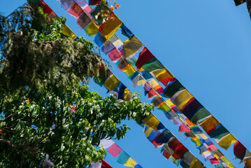 Gebetsfahnen in Kathmandu Nepal