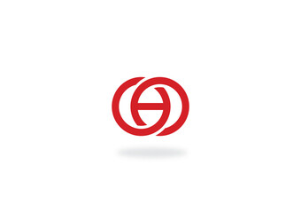 round circle letter h logo
