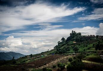 Beautiful natural in Mon Cham (Mon Jam) mountain, Mae Rim, famous travel location in chiangmai, Thailand.