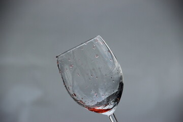 wine glass with white blur background