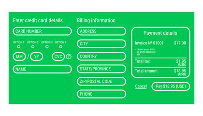 Online payment form / online digital invoice