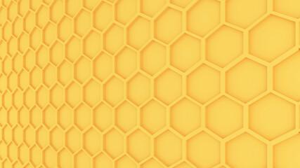 Yellow Honeycomb pattern graphic