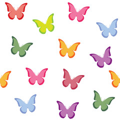 Seamless vector pattern with butterflies.