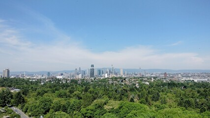 The Frankfurt Skyline viewed from the south.