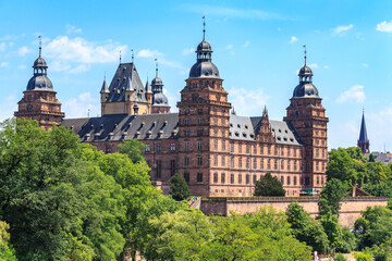 Fototapeten Schloss Johannisburg palace in Aschaffenburg on Main