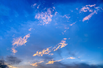 vivid blue sky with clouds